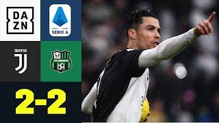 Cristiano Ronaldo rettet Juve einen Punkt: Juventus - Sassuolo 2:2 |  Serie A | DAZN Highlights
