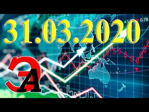 Курсы валют и цена на нефть сегодня 31 марта 2020 г. Доллар, Евро, нефть марки Brent, золото