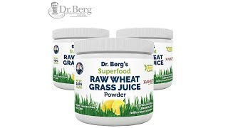 Dr Berg's Lemon Wheatgrass Green Powder with KamutTM | Organic Raw & Ultra-Concentrated Nutrients