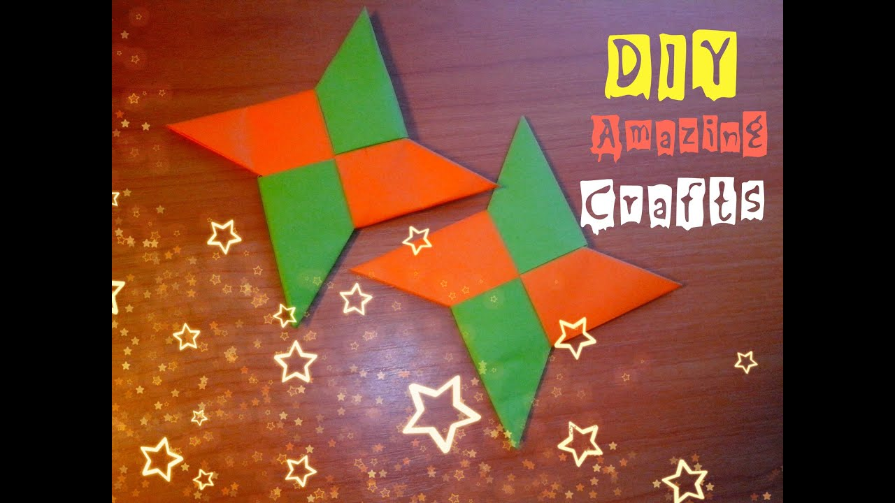 diy how to make paper shuriken easy funny origami for