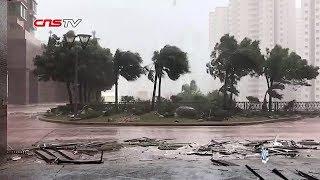 超强台风山竹过境香港风速创纪录