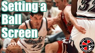 3 Steps To Setting A Ball Screen   How To: Set A Ball Screen   Pro Training Basketball