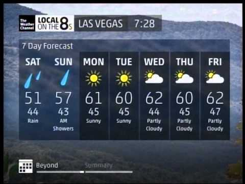 The Weather Channel November 2013 Local Forecast Las Vegas Nv Youtube