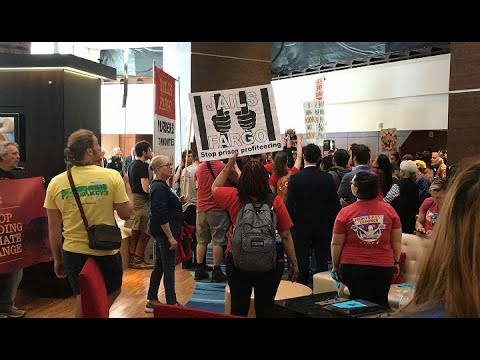 WELLS FARGO PROTEST: Raw video of protest at Wells Fargo shareholders  meeting