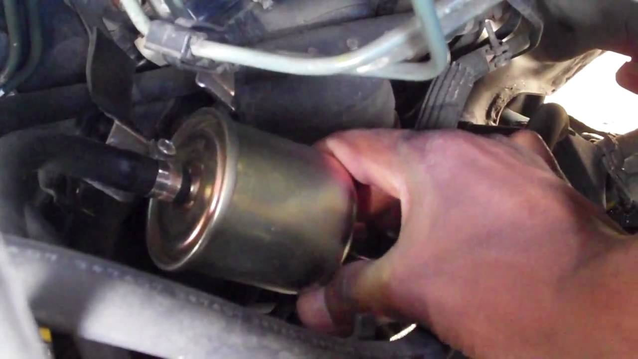 how to change a fuel filter on a nissan maxima youtube