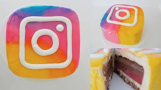 NEW INSTAGRAM LOGO MIRROR GLAZE DESSERT How To Cook That Ann Reardon