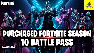 *NEW* PURCHASED FORTNITE SEASON 10 BATTLE PASS (IN MOBILE)