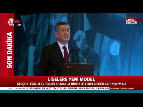 Milli Eğitim Bakanı Ziya Selçuk yeni eğitim modelini anlattı