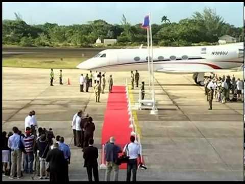 Prince Harry Arrival to Belize at PGIA,Count Damian De Langeron