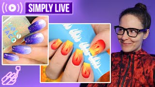 Actually doing nail art & chill 🔴LIVE