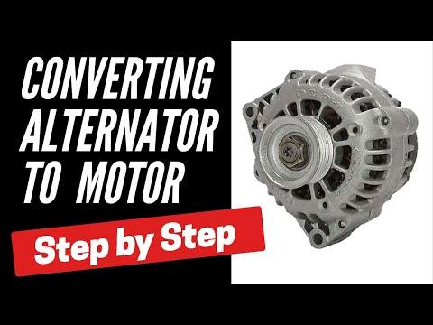 Convert Alternator to Brushless Motor