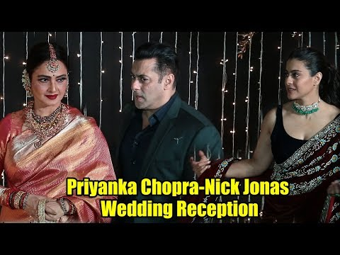 Salman Khan, Kajol, Rekha At Priyanka-Nick Wedding Reception | Wedding Grand Party