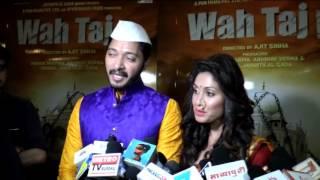 Trailer Launch Of Pen Movies & Pun Films Wah Taj With Shreyas & Manjari Fadnis