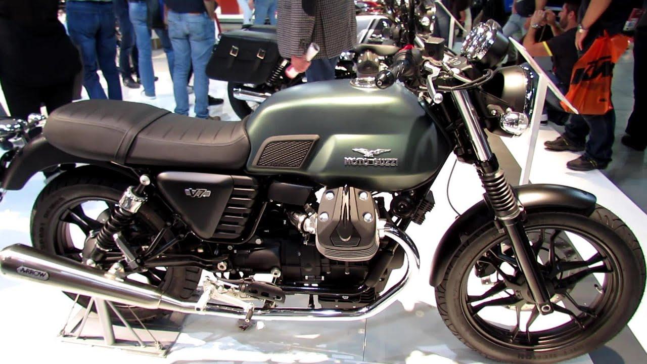 2014 Moto Guzzi V7 Stone Walkaround - 2013 EICMA Milan Motorcycle ...