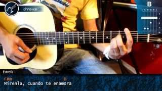 """Cómo tocar """"Mirenla"""" de Ciro Y Los Persas en Guitarra Acústica (HD) Acordes - Christianvib"""