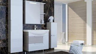 Видео обзор мебели для ванной комнаты Ювента серии София