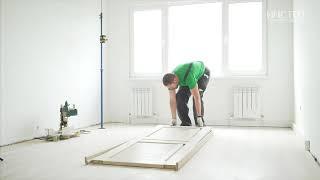 Самостоятельный ремонт квартиры своими руками ч. 4. Потолок, линолеум,  обои, установка двери.