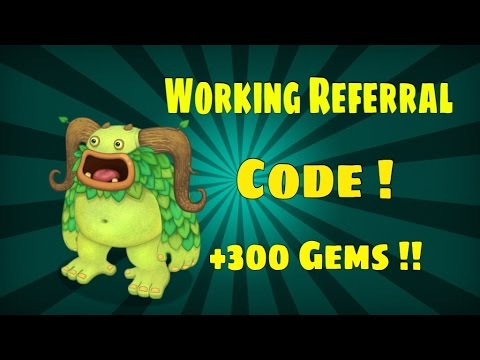 My Singing Monsters Working 260 Gem Referral Code ! 2015 ! - YouTube