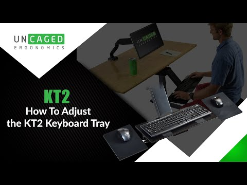 KT2 Adjustable Height Ergonomic Sit Stand Keyboard Tray with Negative Tilt zoom in