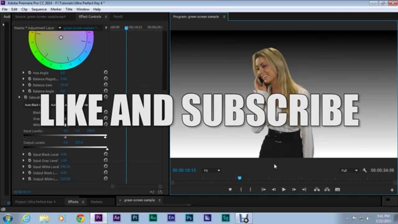 Premiere Pro CC: A Perfect Key With Ultra and Crop