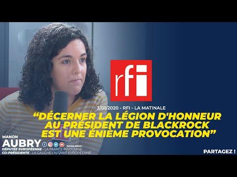 DÉCERNER LA LÉGION D'HONNEUR AU PRÉSIDENT DE BLACKROCK EST UNE ÉNIÈME PROVOCATION