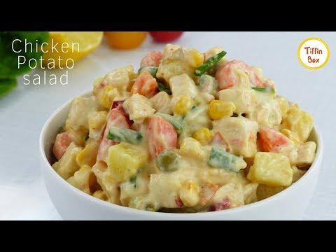 2 Easy Chicken Salad For Kids Tiffin Box   Chicken Potato Salad   Pasta Salad   Russian Salad Recipe