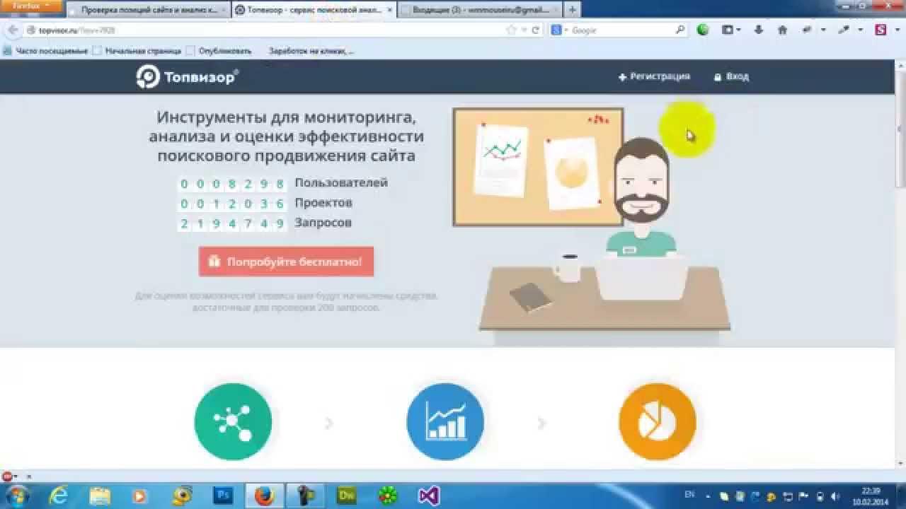 Проверка позиций сайта и анализ конкурентов с помощью ТопВизор