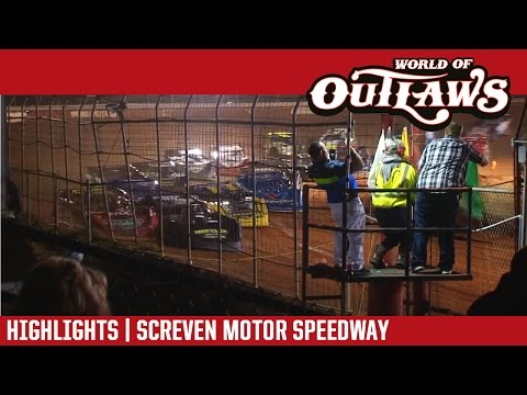World of Outlaws Craftsman Late Models Screven Motor Speedway February 18, 2017 | HIGHLIGHTS