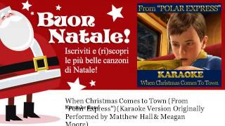 Karaoke Band - When Christmas Comes to Town (From