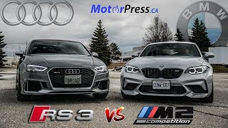2019 BMW M2 Competition Vs 2018 Audi RS3 Sedan