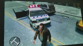 "GTA IV on Xbox One X : With 4K HDR ""188 Inch Projector  Test"