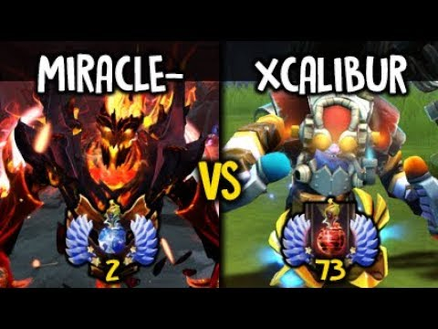 Miracle- SF God vs Xcalibur Tinker Insane Mid Battle Dota 2
