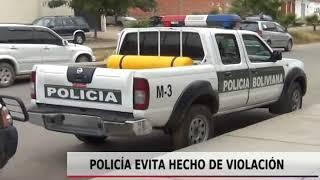 POLICIÍ EVITA HECHO DE VIOLACIÓN