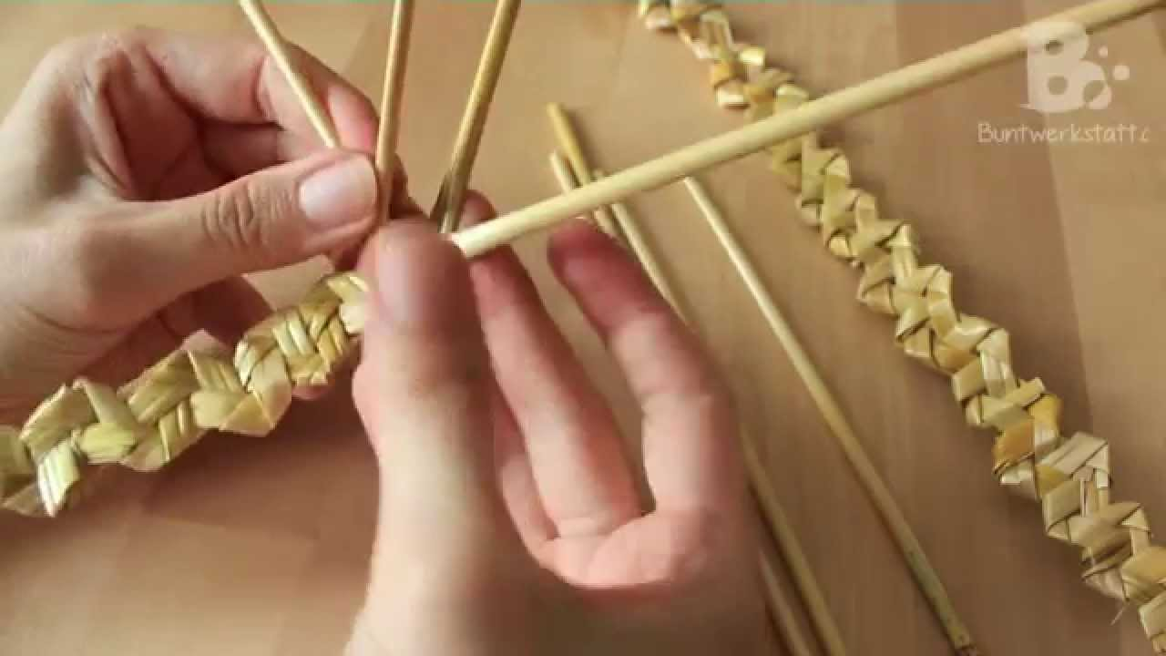 Straw Wheat Weaving Rustic Plait Youtube