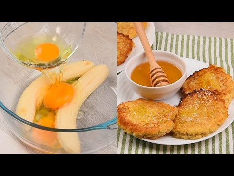 Coconut and banana fritters very easy to prepare and delicious with honey