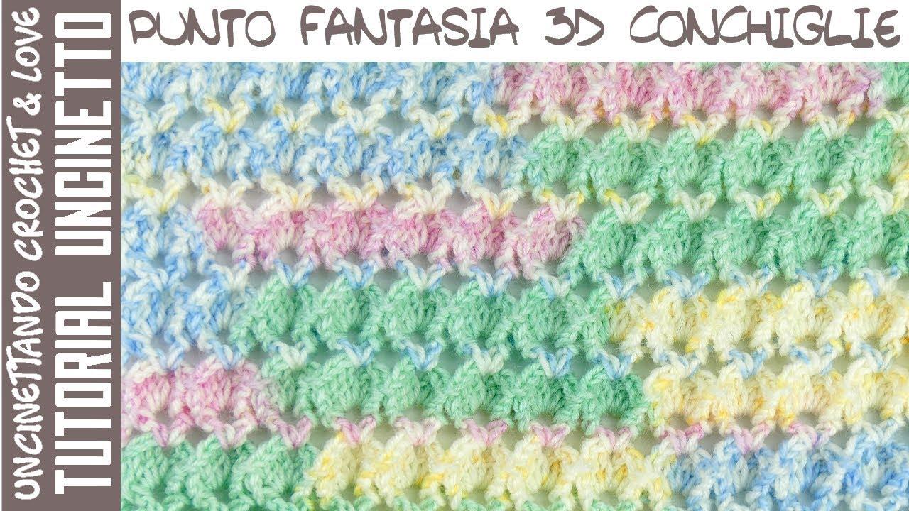 Punto Fantasia 3d Ad Uncinetto Con Conchiglie Sub Eng Y Esp