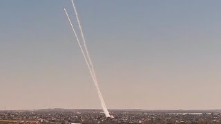 Another Baradge Of Rockets Making It's Way From Gaza Into Israel, As The Conflict Continues