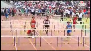 Chinese Guy Cheat In Hurdle And Still Loses (Total FAYUL)
