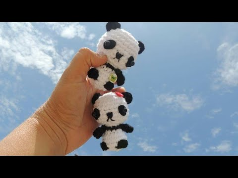 Oso panda kawaii amigurumi. Video tutorial del paso a paso ... | 360x480