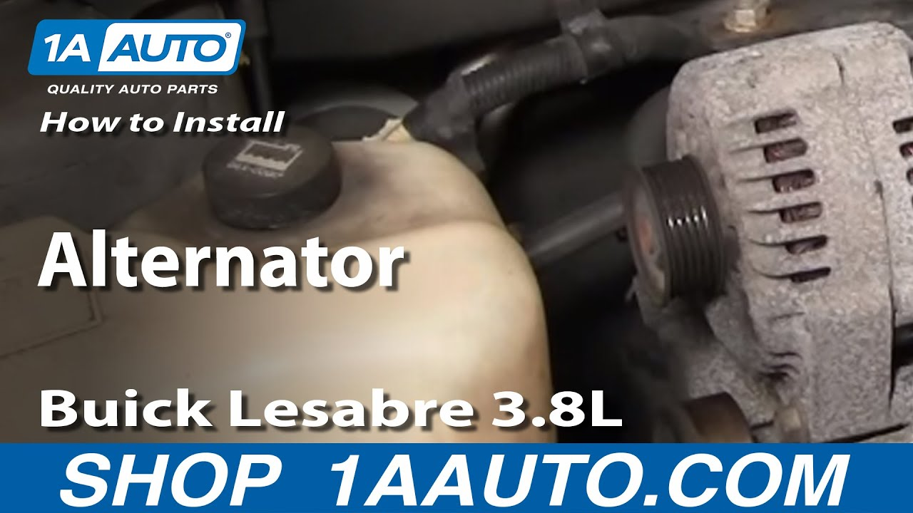 how to install repair replace alternator buick lesabre 3 8l 00 05 rh youtube com