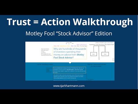 "Trust Scale Walkthrough - Motley Fool ""Stock Advisor"" Sales Page"
