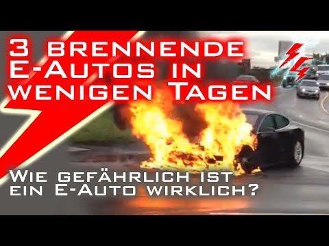 3 brennende E-Autos in wenigen Tagen - Wie gefährlich ist ein E-Auto wirklich?