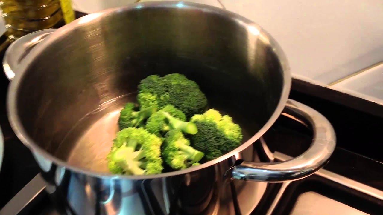 Como Cocinar Brocoli Hervido | Brocoli Al Vapor Youtube