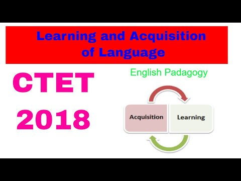 Learning and Acquisition of Language Video 1 for CTET and St
