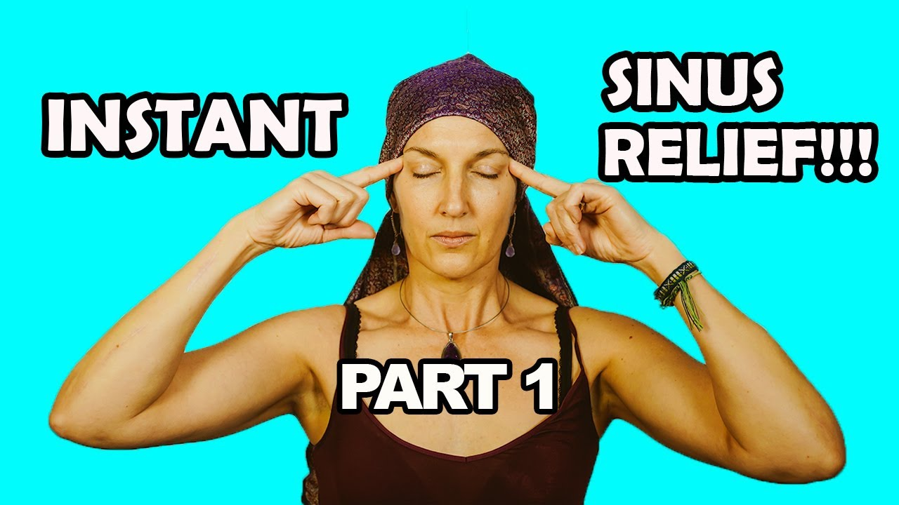 sinus points massage for drainage and pressure relief instant  [ 1280 x 720 Pixel ]