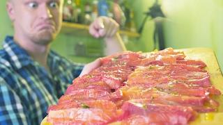 """Красная рыба """"чисто под водочку"""". 30 минутная засолка."""