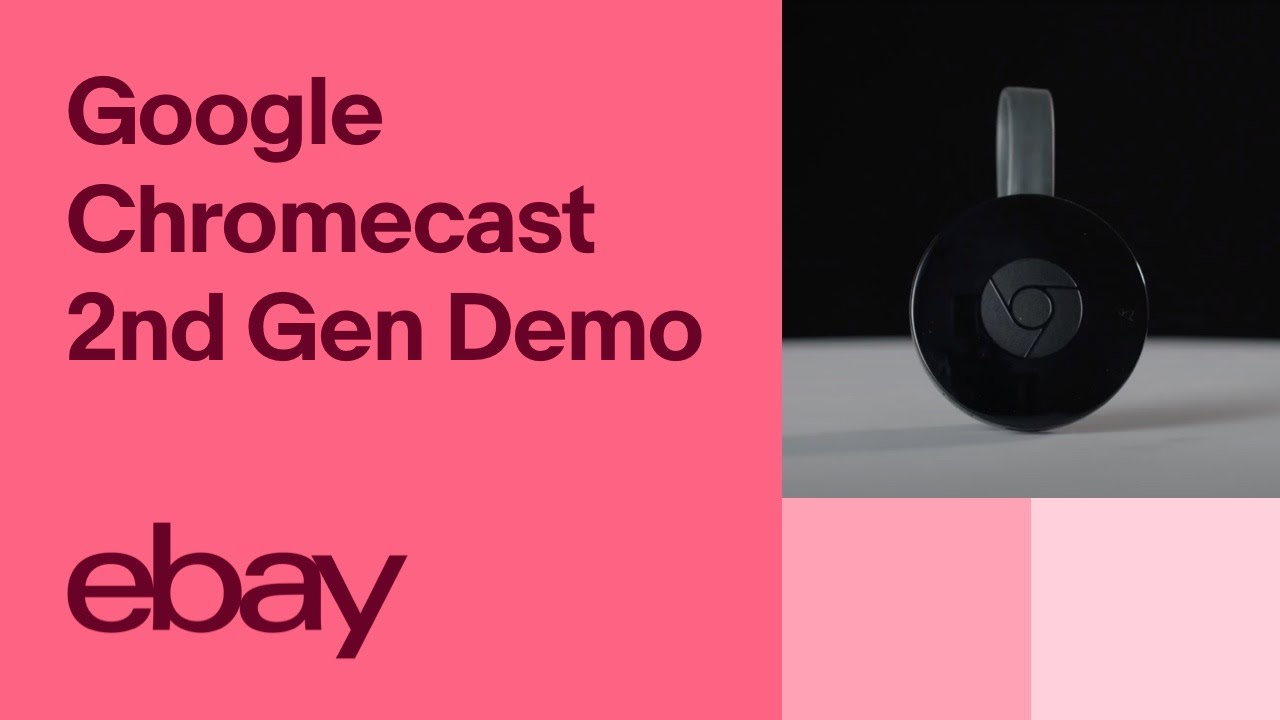 Google Chromecast (2nd Generation) HD Media Streamer Demo | eBay Top  Products
