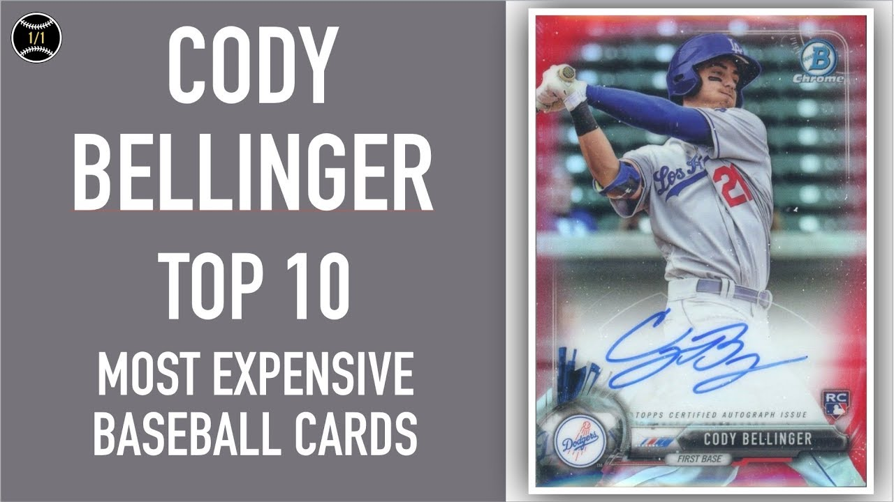 Cody Bellinger Top 10 Most Expensive Baseball Cards Sold On Ebay February April 2019