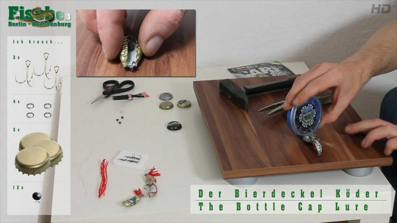 k der selber bauen der bierdeckel k der bottle cap lure youtube. Black Bedroom Furniture Sets. Home Design Ideas