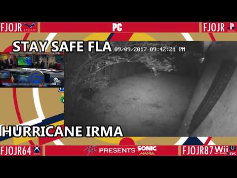 Hurricane Irma - Web Cam Feed from Florida! Part 4 With Sonic Music & News Feed